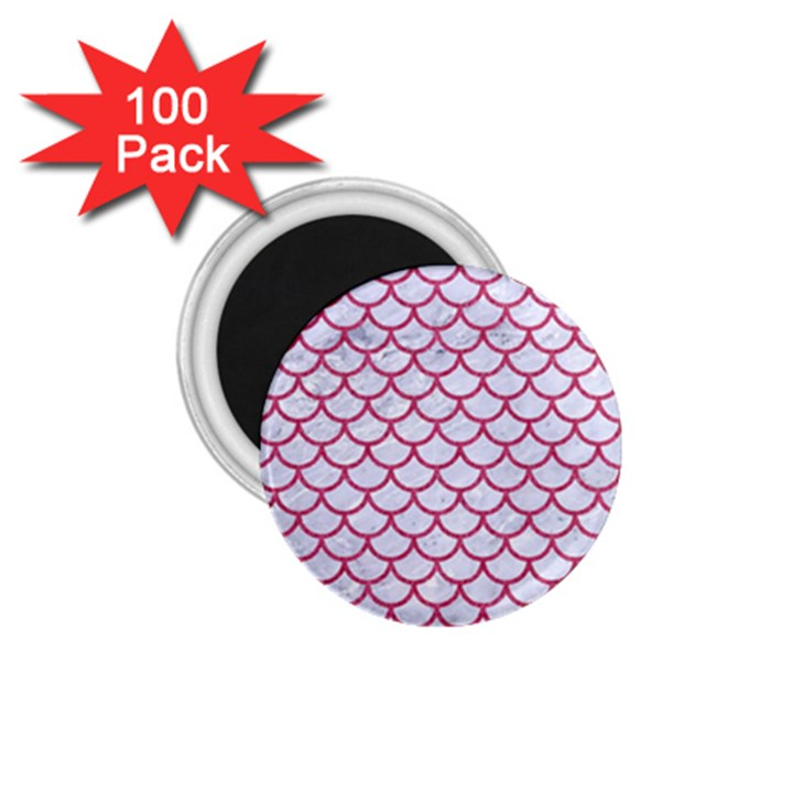 SCALES1 WHITE MARBLE & PINK DENIM (R) 1.75  Magnets (100 pack)
