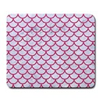 SCALES1 WHITE MARBLE & PINK DENIM (R) Large Mousepads Front