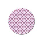 SCALES1 WHITE MARBLE & PINK DENIM (R) Magnet 3  (Round) Front