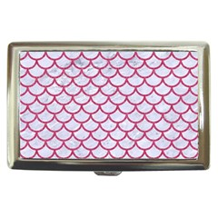 Scales1 White Marble & Pink Denim (r) Cigarette Money Cases