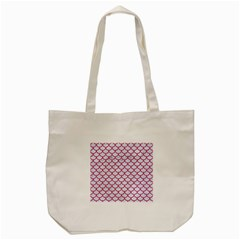 Scales1 White Marble & Pink Denim (r) Tote Bag (cream) by trendistuff