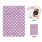 SCALES1 WHITE MARBLE & PINK DENIM (R) Playing Card Back