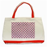 SCALES1 WHITE MARBLE & PINK DENIM (R) Classic Tote Bag (Red) Front