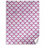 SCALES1 WHITE MARBLE & PINK DENIM (R) Canvas 36  x 48   48 x36 Canvas - 1