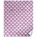 SCALES1 WHITE MARBLE & PINK DENIM (R) Canvas 11  x 14   14 x11  Canvas - 1