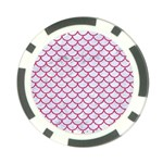SCALES1 WHITE MARBLE & PINK DENIM (R) Poker Chip Card Guard (10 pack) Front