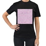 SCALES1 WHITE MARBLE & PINK DENIM (R) Women s T-Shirt (Black) Front