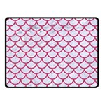 SCALES1 WHITE MARBLE & PINK DENIM (R) Fleece Blanket (Small) 50 x40 Blanket Front