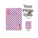 SCALES1 WHITE MARBLE & PINK DENIM (R) Playing Cards 54 (Mini)  Front - Diamond10