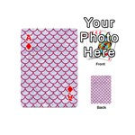 SCALES1 WHITE MARBLE & PINK DENIM (R) Playing Cards 54 (Mini)  Front - DiamondA