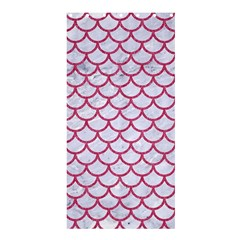 Scales1 White Marble & Pink Denim (r) Shower Curtain 36  X 72  (stall)