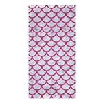 SCALES1 WHITE MARBLE & PINK DENIM (R) Shower Curtain 36  x 72  (Stall)  33.26 x66.24 Curtain