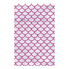 Scales1 White Marble & Pink Denim (r) Shower Curtain 48  X 72  (small)