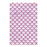 SCALES1 WHITE MARBLE & PINK DENIM (R) Shower Curtain 48  x 72  (Small)  42.18 x64.8 Curtain