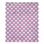 SCALES1 WHITE MARBLE & PINK DENIM (R) Shower Curtain 60  x 72  (Medium)  54.25 x65.71 Curtain