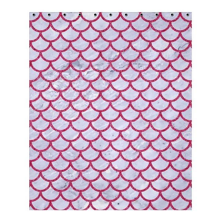 SCALES1 WHITE MARBLE & PINK DENIM (R) Shower Curtain 60  x 72  (Medium)