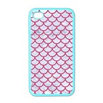 SCALES1 WHITE MARBLE & PINK DENIM (R) Apple iPhone 4 Case (Color) Front
