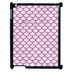 Scales1 White Marble & Pink Denim (r) Apple Ipad 2 Case (black)
