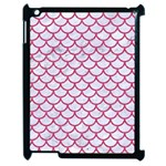 SCALES1 WHITE MARBLE & PINK DENIM (R) Apple iPad 2 Case (Black) Front