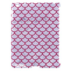 Scales1 White Marble & Pink Denim (r) Apple Ipad 3/4 Hardshell Case (compatible With Smart Cover)