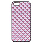 SCALES1 WHITE MARBLE & PINK DENIM (R) Apple iPhone 5 Seamless Case (Black) Front