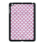 SCALES1 WHITE MARBLE & PINK DENIM (R) Apple iPad Mini Case (Black) Front