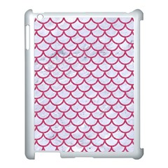 Scales1 White Marble & Pink Denim (r) Apple Ipad 3/4 Case (white)