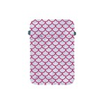 SCALES1 WHITE MARBLE & PINK DENIM (R) Apple iPad Mini Protective Soft Cases Front