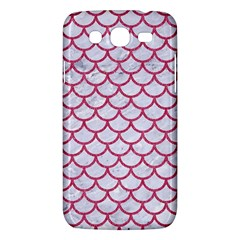 Scales1 White Marble & Pink Denim (r) Samsung Galaxy Mega 5 8 I9152 Hardshell Case  by trendistuff