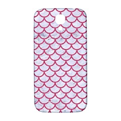 Scales1 White Marble & Pink Denim (r) Samsung Galaxy S4 I9500/i9505  Hardshell Back Case by trendistuff