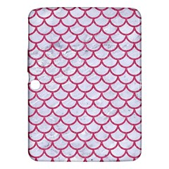 Scales1 White Marble & Pink Denim (r) Samsung Galaxy Tab 3 (10 1 ) P5200 Hardshell Case
