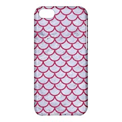 Scales1 White Marble & Pink Denim (r) Apple Iphone 5c Hardshell Case by trendistuff