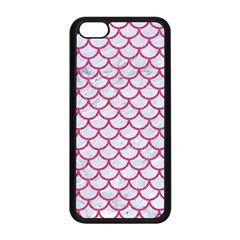 Scales1 White Marble & Pink Denim (r) Apple Iphone 5c Seamless Case (black) by trendistuff