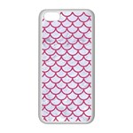 SCALES1 WHITE MARBLE & PINK DENIM (R) Apple iPhone 5C Seamless Case (White) Front