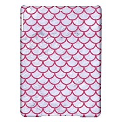 Scales1 White Marble & Pink Denim (r) Ipad Air Hardshell Cases by trendistuff