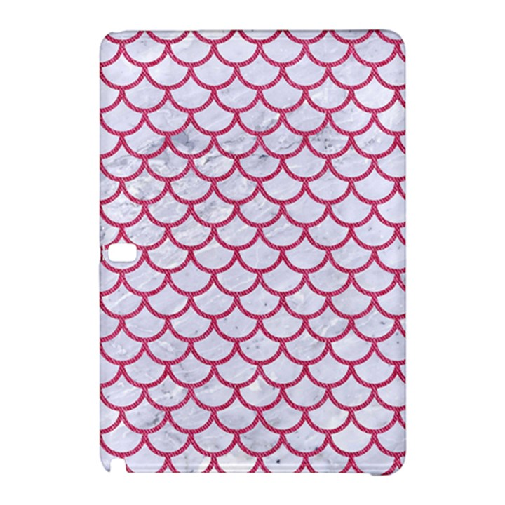 SCALES1 WHITE MARBLE & PINK DENIM (R) Samsung Galaxy Tab Pro 12.2 Hardshell Case