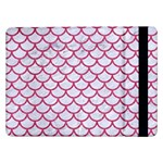 SCALES1 WHITE MARBLE & PINK DENIM (R) Samsung Galaxy Tab Pro 12.2  Flip Case Front