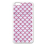 SCALES1 WHITE MARBLE & PINK DENIM (R) Apple iPhone 6 Plus/6S Plus Enamel White Case Front