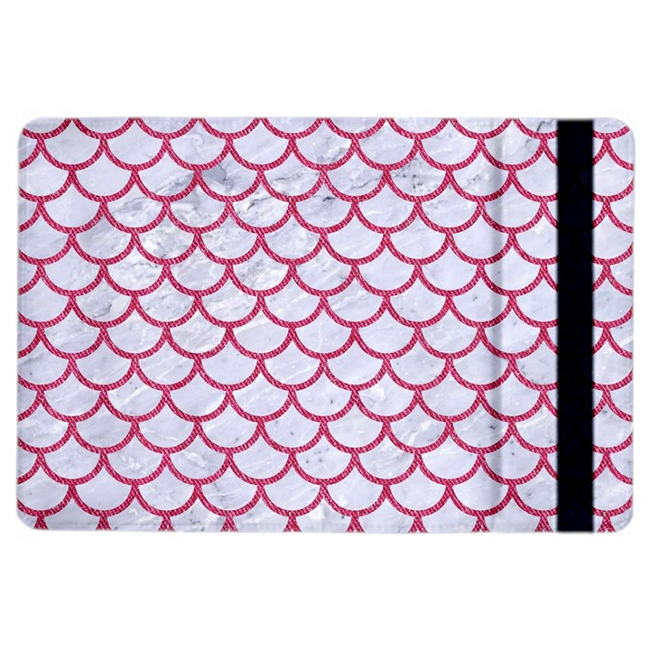 SCALES1 WHITE MARBLE & PINK DENIM (R) iPad Air 2 Flip