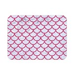 SCALES1 WHITE MARBLE & PINK DENIM (R) Double Sided Flano Blanket (Mini)  35 x27  Blanket Front