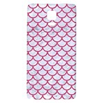 SCALES1 WHITE MARBLE & PINK DENIM (R) Galaxy Note 4 Back Case Front