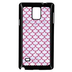 Scales1 White Marble & Pink Denim (r) Samsung Galaxy Note 4 Case (black)