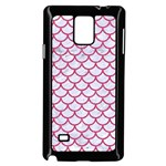 SCALES1 WHITE MARBLE & PINK DENIM (R) Samsung Galaxy Note 4 Case (Black) Front