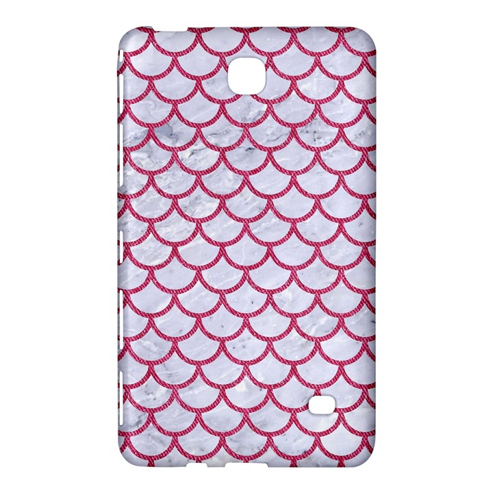 SCALES1 WHITE MARBLE & PINK DENIM (R) Samsung Galaxy Tab 4 (7 ) Hardshell Case