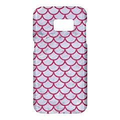 Scales1 White Marble & Pink Denim (r) Samsung Galaxy S7 Hardshell Case