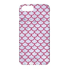 Scales1 White Marble & Pink Denim (r) Apple Iphone 7 Plus Hardshell Case by trendistuff