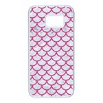 SCALES1 WHITE MARBLE & PINK DENIM (R) Samsung Galaxy S7 White Seamless Case Front