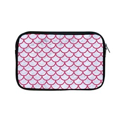 Scales1 White Marble & Pink Denim (r) Apple Macbook Pro 13  Zipper Case
