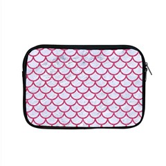 Scales1 White Marble & Pink Denim (r) Apple Macbook Pro 15  Zipper Case