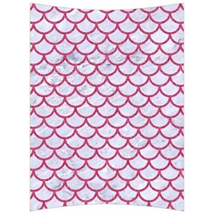 Scales1 White Marble & Pink Denim (r) Back Support Cushion by trendistuff